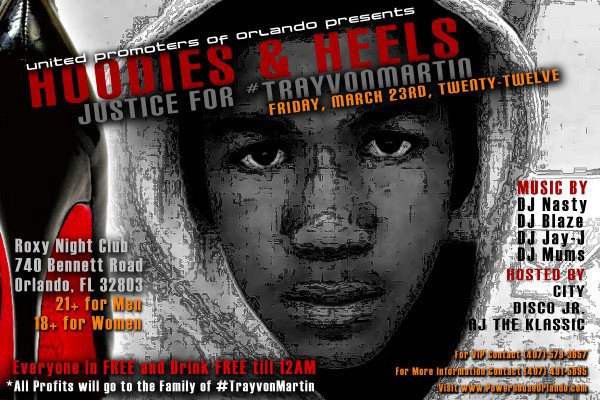 Hoodies and Heels Party for Trayvon
