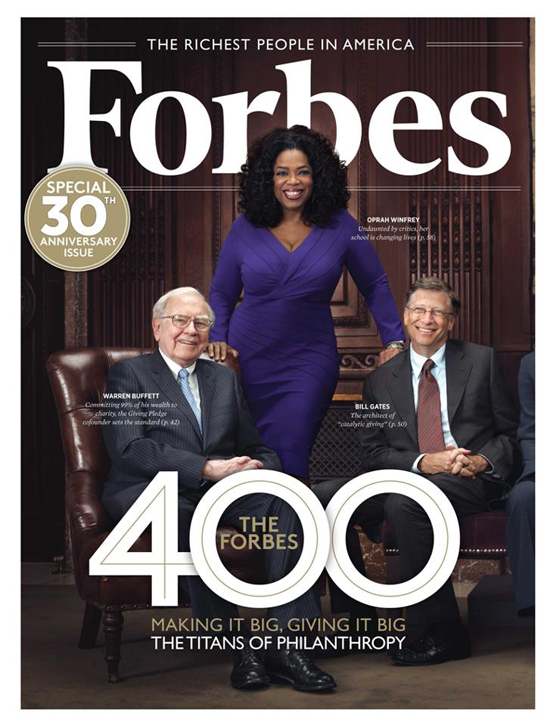 Oprah Winfrey Warren Buffett Bill Gates Forbes Magazine
