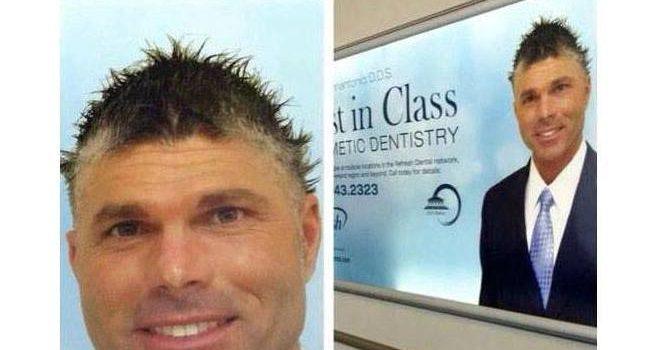 Dentist with bad hair