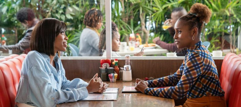 Issa and Molly at diner - Insecure 409