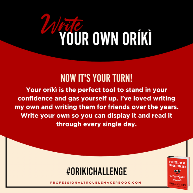 create your own oriki